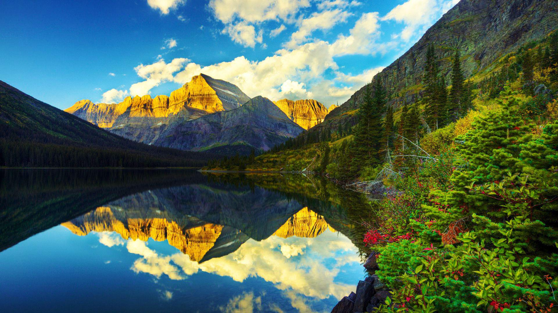 Fall Wallpapers Multiple Monitors Glacier National Park Montana Canada Traveldigg Com