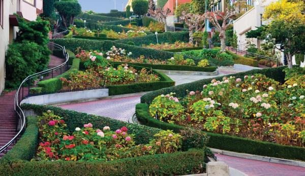 Lombard Street Winding Road In World