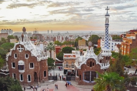 Gaudi`s Park Guell in Barcelona
