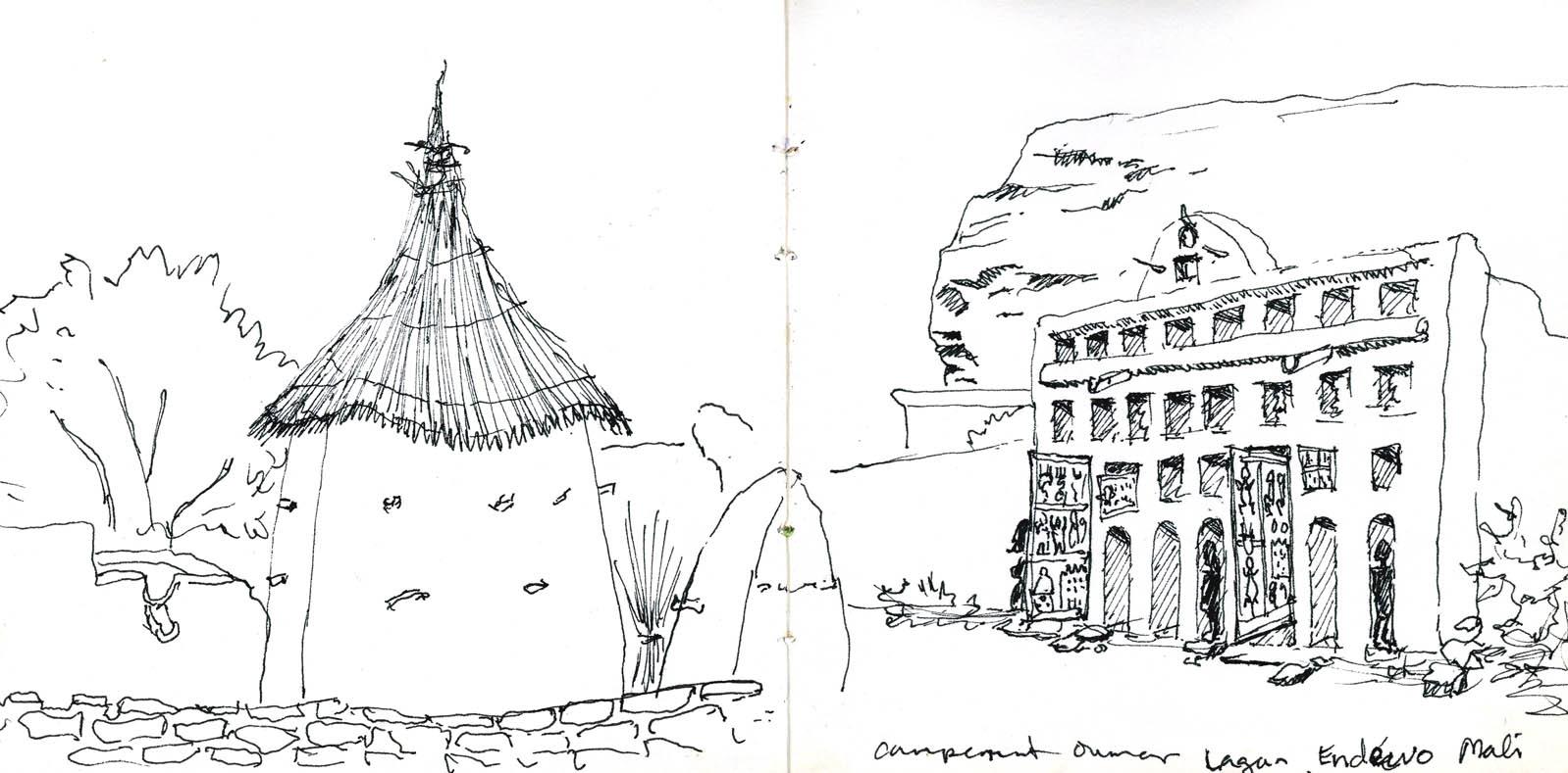 Granary And Dogon House Dogon Country Mali