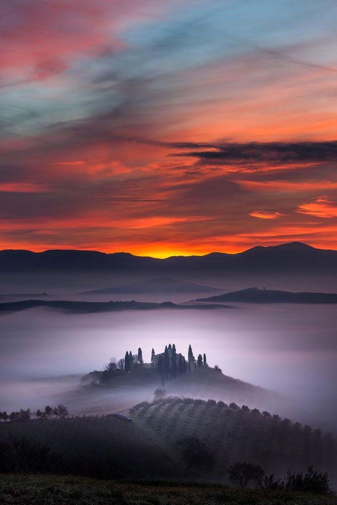 Fantastic Landscapes of Tuscany, Italy