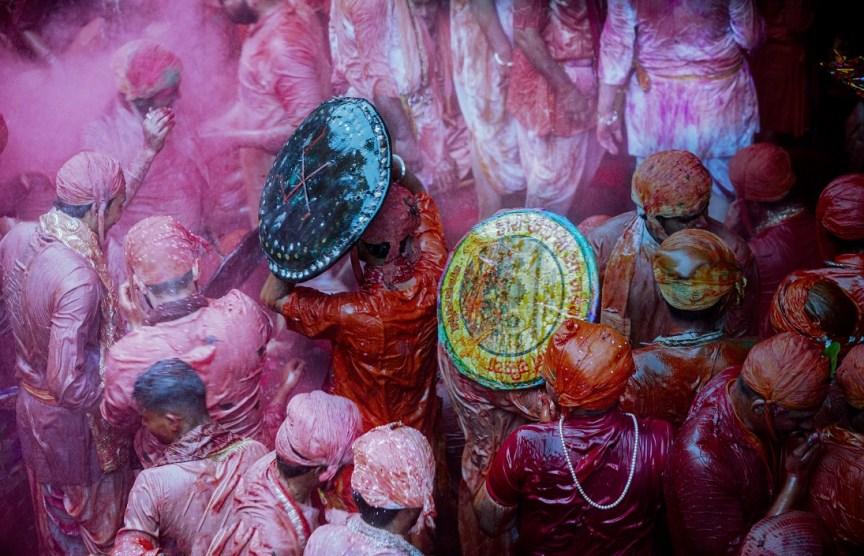 Holi for visitors in Brindavan & Barsana