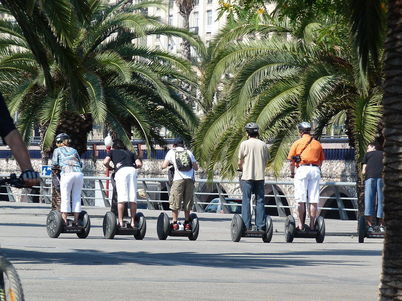 Unique things to do in Barcelona - go on segway tour