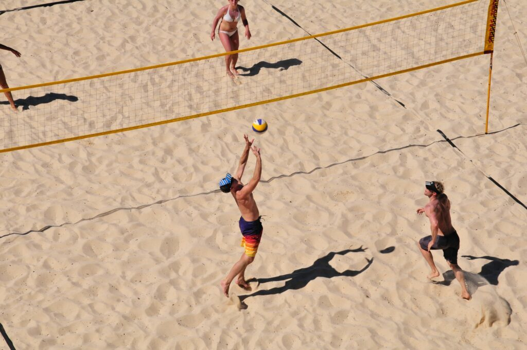 Unique things to do in Barcelona - play volleyball on the beach.