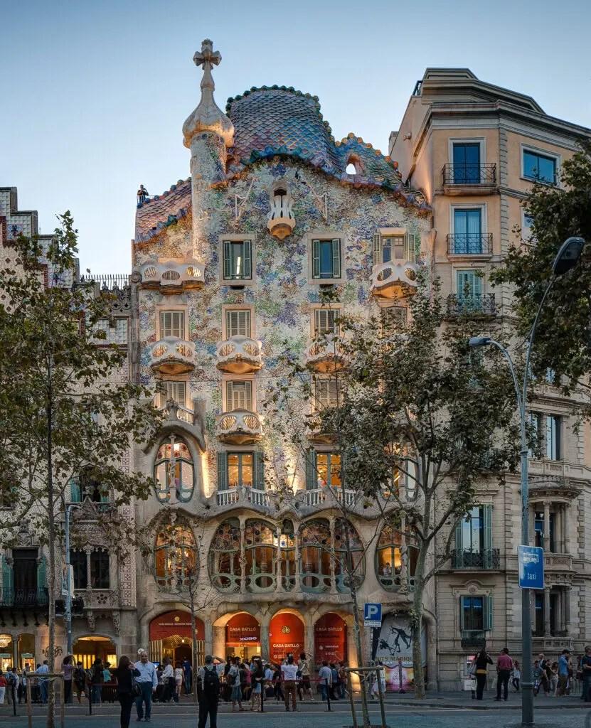 Landmarks in Barcelona, Spain