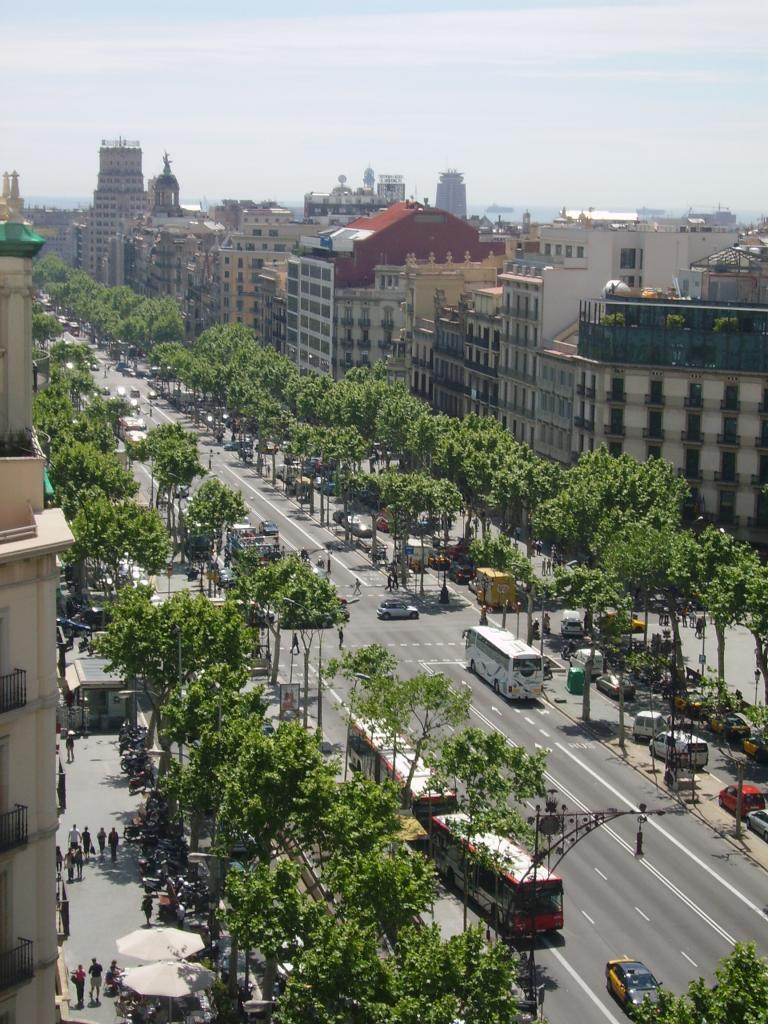 Passeig de Gracia in Barcelona, Spain