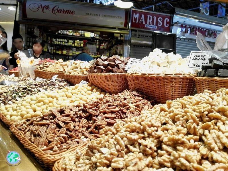 Mercado dela Boqueria en Barcelona