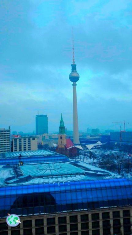 Torre de la televisión de Berlín desde la catedral