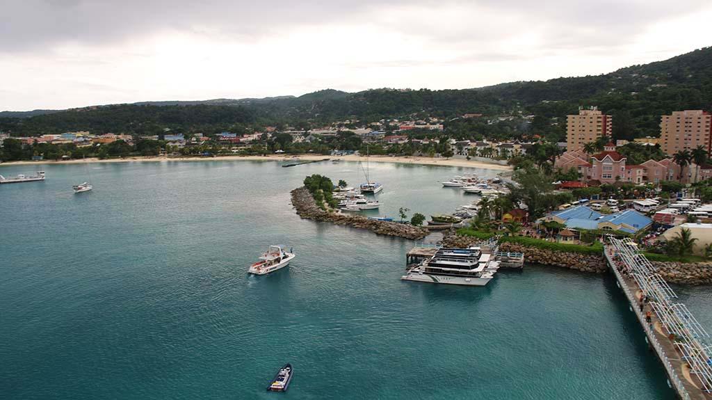 Jamaica view from a cruise ship Ocho Rios