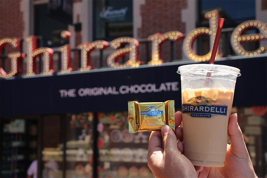 San Francisco Ghirardelli Square coffee and sweets