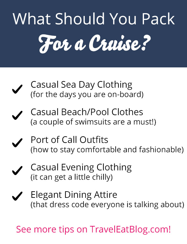 What clothes to bring on a Cruise