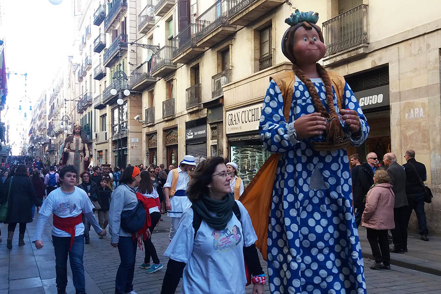 Festival of Saint Eulalia in Barcelona in February