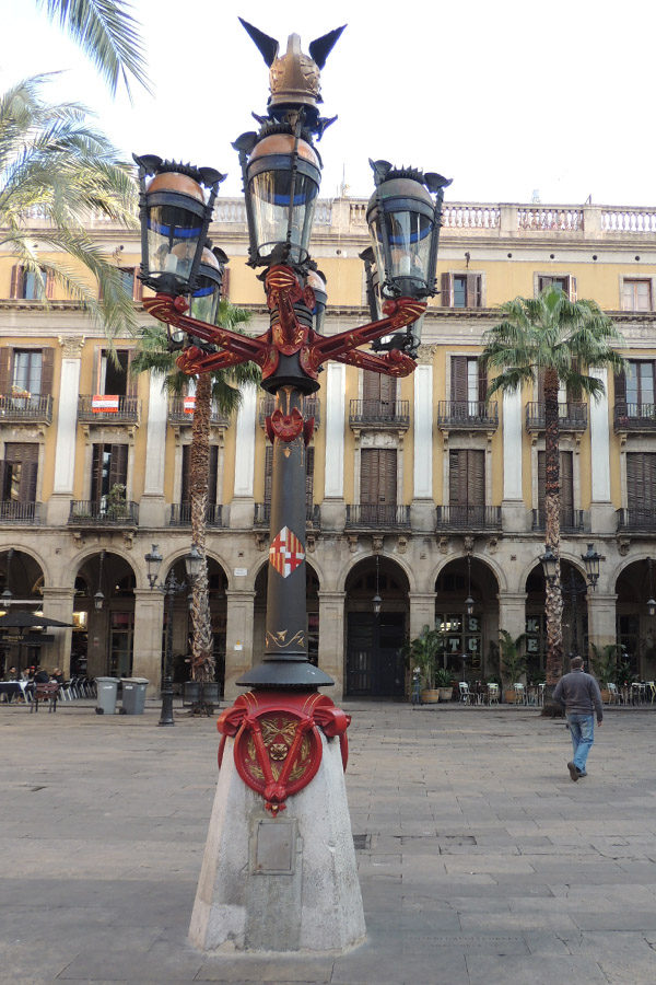 Placa Reial one of the first works by Gaudi