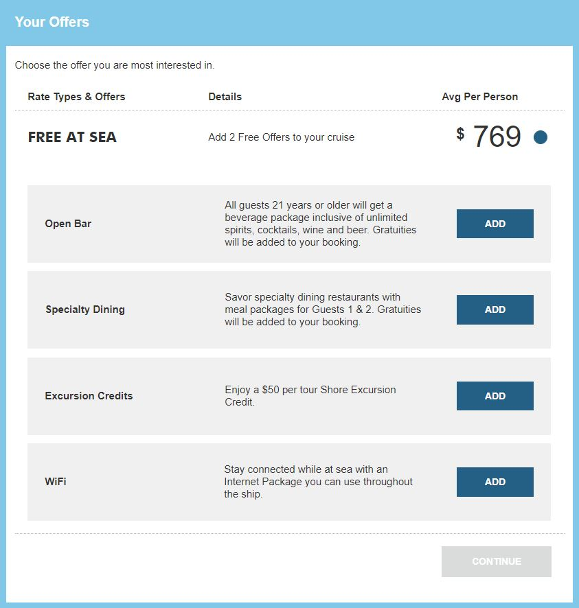 Norwegian Free at Sea Offers