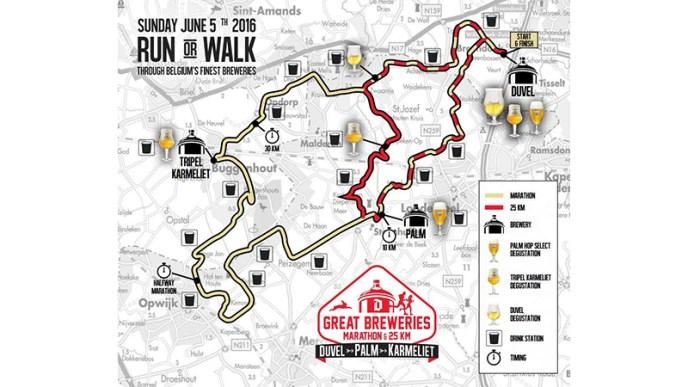 Great breweries marathon parcours 2016