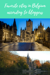 favorite cities in Belgium according to bloggers