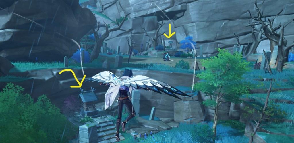 inazuma hidden shrine achievement locations