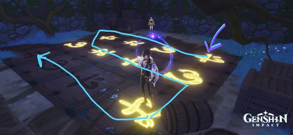 genshin impact serai relics quest achievement puzzle
