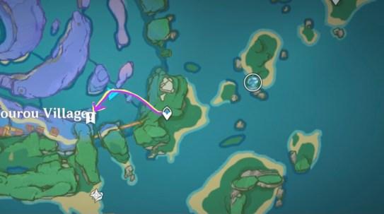 watatsumi island rinzou treasure markings hidden achievement quest locations