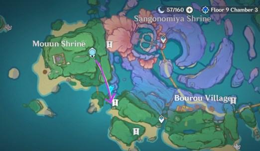 watatsumi island markings on wall rinzou treasure hidden achievement quest locations