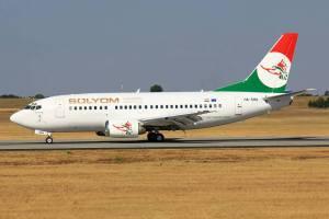 A Sólyom Airways egyetlen magyar lajstromú repülőgépe egyetlen ferihegyi látogatásán. (Fotó: Rimóczi Roland / Traveler Circle)