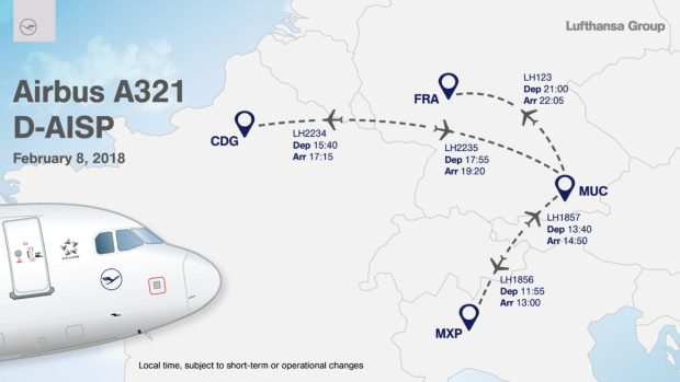 Lufthansa Európa körút