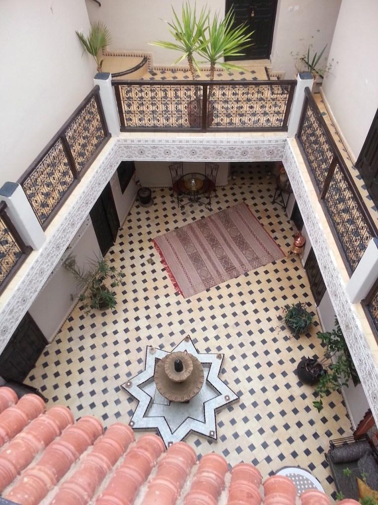 Riad, cortile