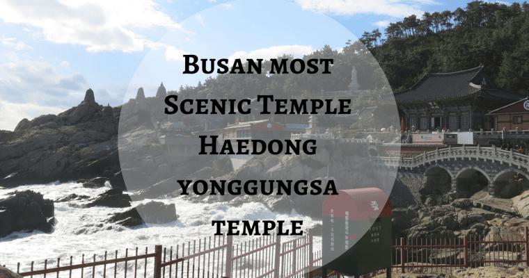 Busan most Scenic Temple: Haedong yonggungsa temple 해동 용궁사
