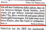 Beitragspflicht zur Zahlung der ARD, ZDF und Deutschlandradio Beiträge