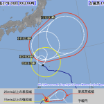 台風14号進路予想2015。最新の米軍・気象庁情報では海のレジャー注意が必要。