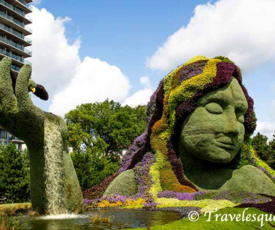 MosaïCanada 150 - Attraction Ottawa - a walk through Jacque Cartier Park topiaries celebrating Canada's 150th birthday through beautiful topiaries - travelesquelife.com