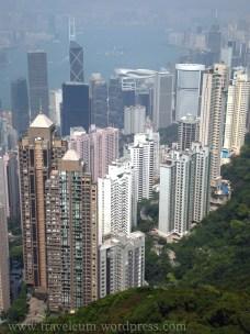 Hongkong - widok ze wzgórza Wiktorii