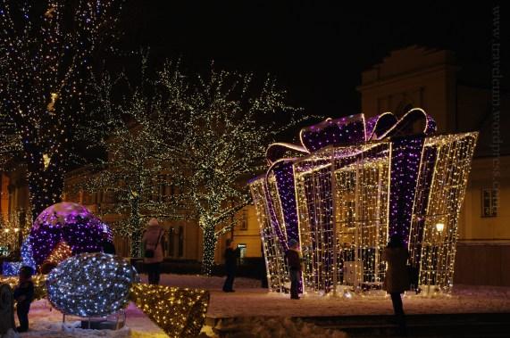 Warszawa - iluminacje świąteczne