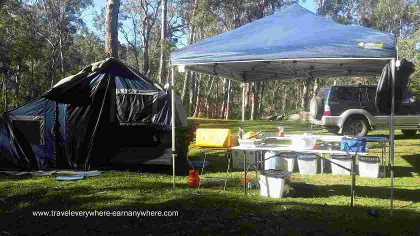 Camping for free accommodation when a digital nomad.