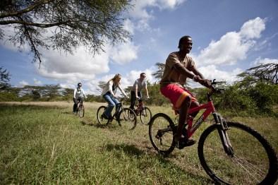 Cycling at Solio Lodge, Kenya, Africa