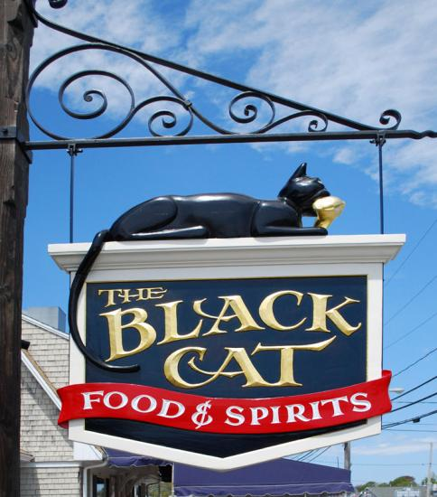 Back Cat Restaurant Sign