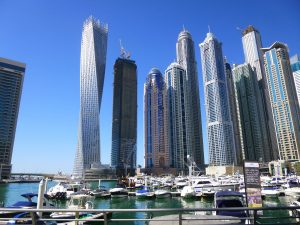 A view of the Dubai Marina.