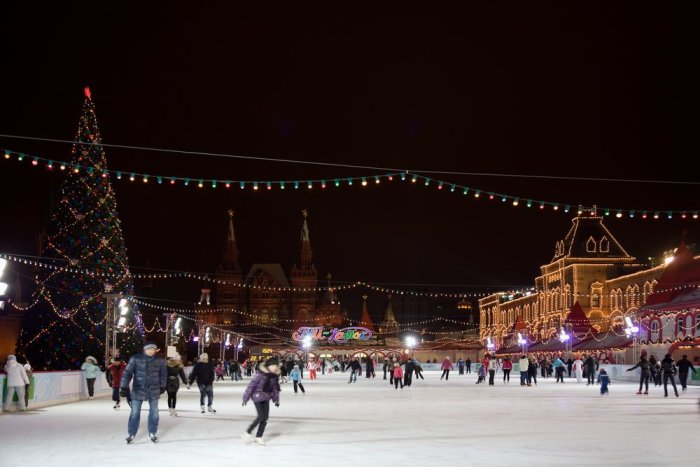 GUM rink in Red Square
