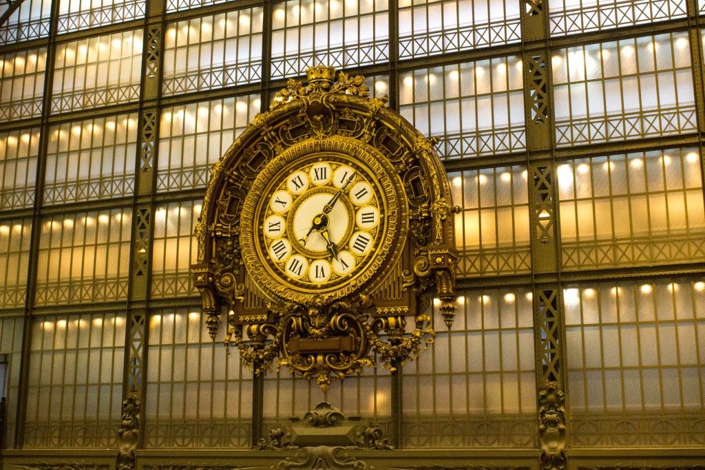 The clock at Musee D'Orsay, Paris