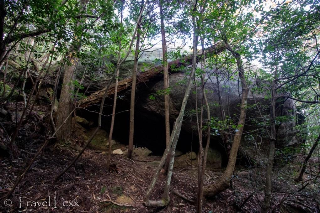 Cave and shrine, Miyajima