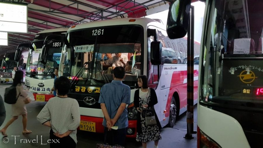 Bus station, Korea Tracel Guide