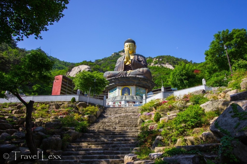 Golden Buddha at Guknyeongsa Temple - Korea hiking trails