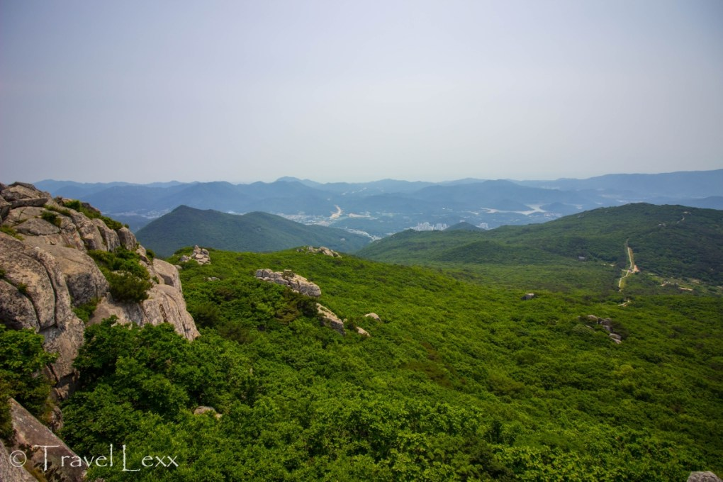 View from Mt. Geumjeonsan - Korea hiking trails