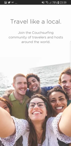 Travel Apps - Couchsurfing