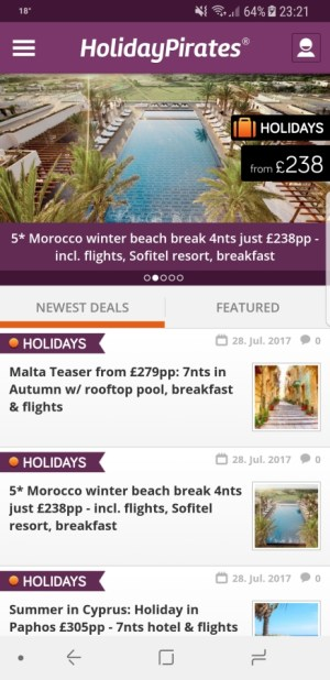Travel Apps - Holiday Pirates