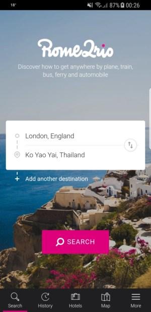 Travel Apps - Rome2Rio