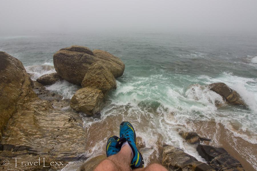 Waves crashing against rocks - Capela do Senhor da Pedra
