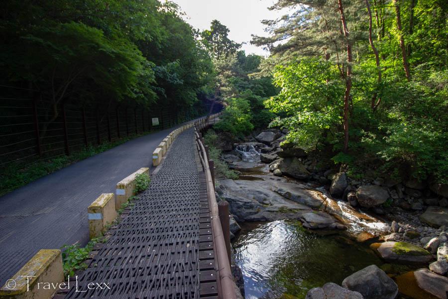 A path follows a stream in Sobaeksan National Park