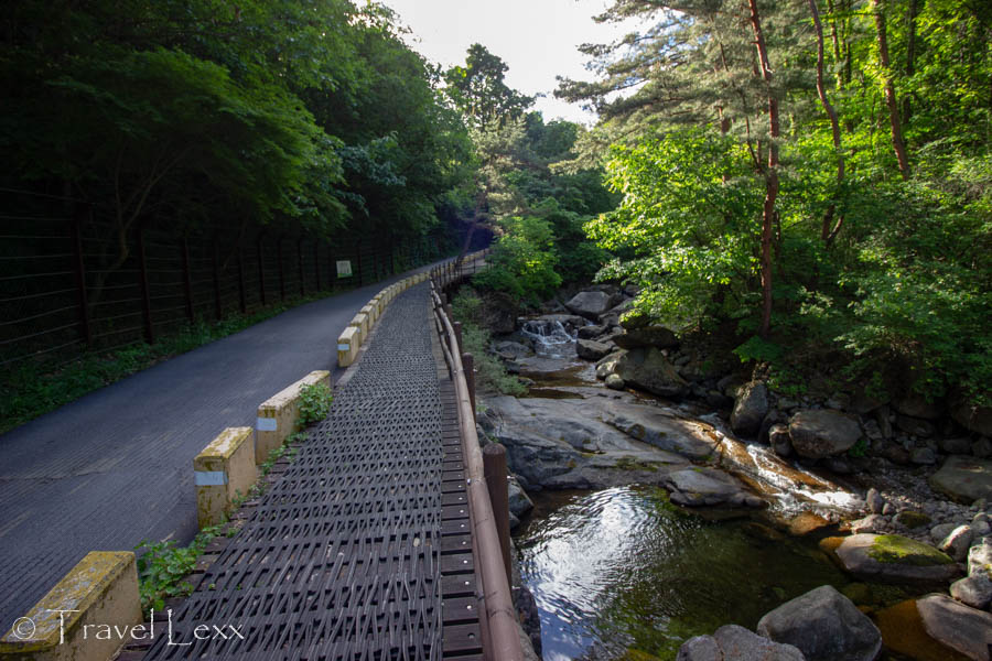 A path follows a stream in Sobaeksan National Park