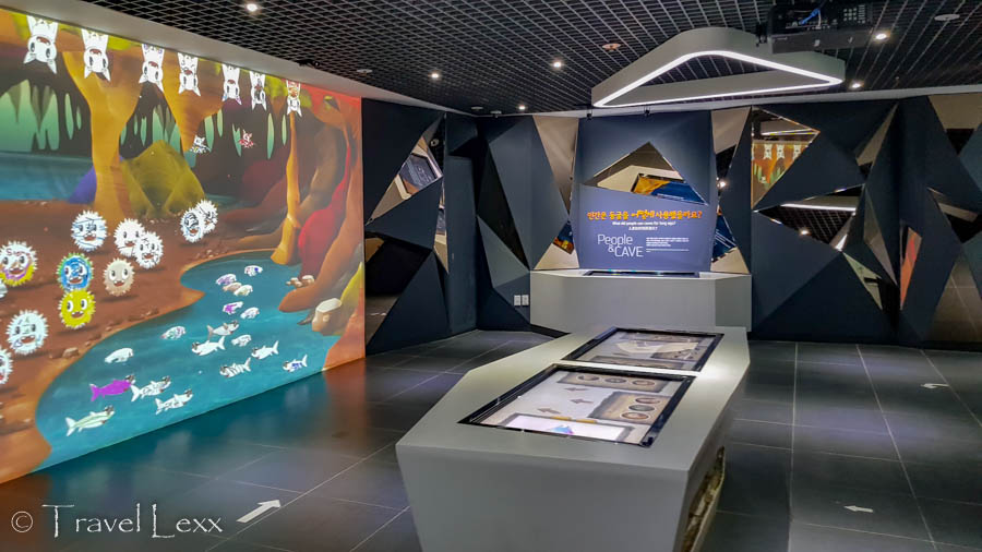 Exhibits in the Gosu Cave visitor centre
